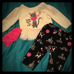 Children's Place peplum sweater & pants